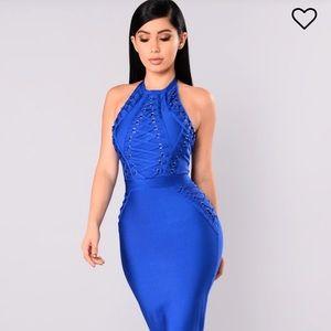 Beautiful New Royal Blue bandage dress